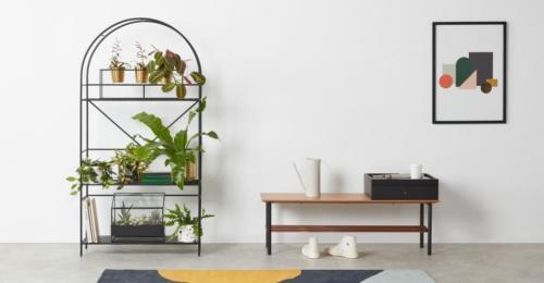 Betula, étagère de présentation pour plantes, noir