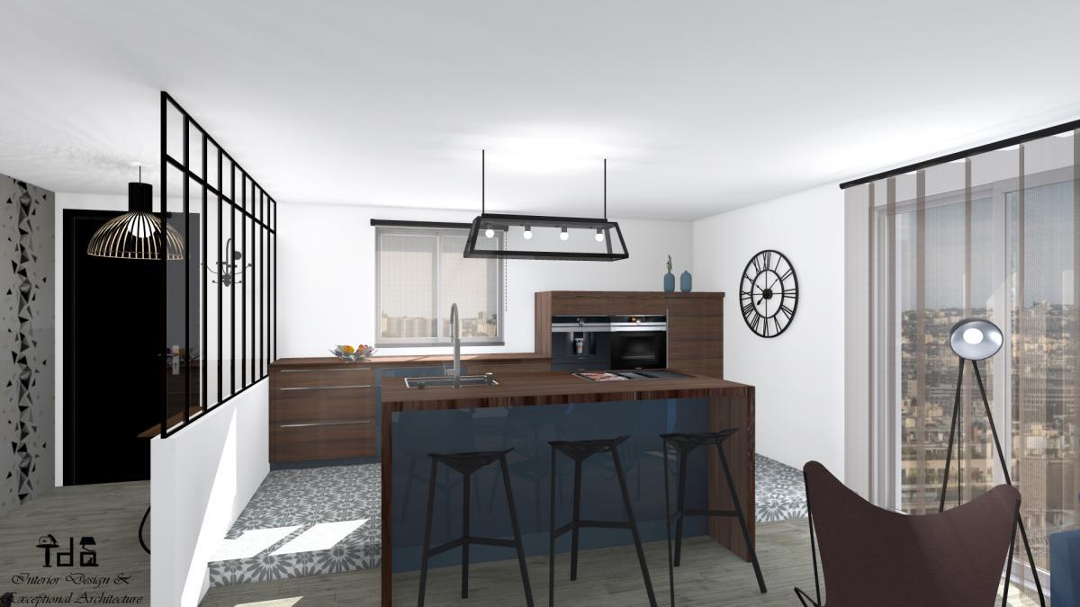 Agencement Et Decoration D Une Cuisine Ouverte Salon Salle